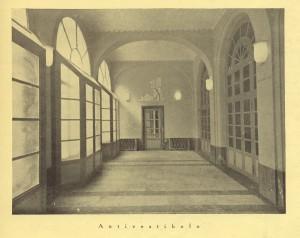 Biblioteca civica Centrale, antivestibolo, 1929. Biblioteca civica Centrale © Biblioteche civiche torinesi
