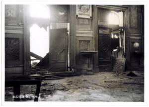 Chiesa di San Gioacchino, Corso Giulio Cesare angolo Via Vittorio Amedeo Cignaroli 3. Effetti prodotti dai bombardamenti dell'incursione aerea dell'8-9 dicembre 1942. UPA 2756D_9C06-07. © Archivio Storico della Città di Torino
