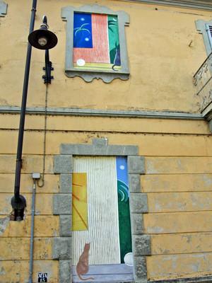Francesco Di Lernia,Senza titolo, 2000, opera murale per il MAU Museo Arte Urbana, via Musinè 19. Fotografia di Alessandro Vivanti, 2011