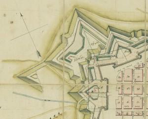 Stato di fatto delle ridotte poco prima del disarmo napoleonico. ASCT, Collezione Simeom. © Archivio Storico della Città di Torino
