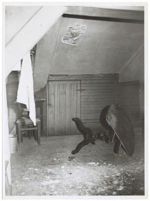 Via San Dalmazzo 13. Effetti prodotti dai bombardamenti dell'incursione aerea dell'11-12 gennaio 1941. UPA 1081D_9A03-35. © Archivio Storico della Città di Torino