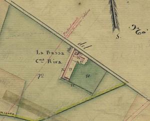 Cascina Bassa di Stura, già La Modesta. Catasto Gatti, 1820-1830, © Archivio Storico della Città di Torino
