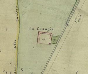 Cascina La Grangia, già Lagrange. Catasto Gatti, 1820-1830. © Archivio Storico della Città di Torino
