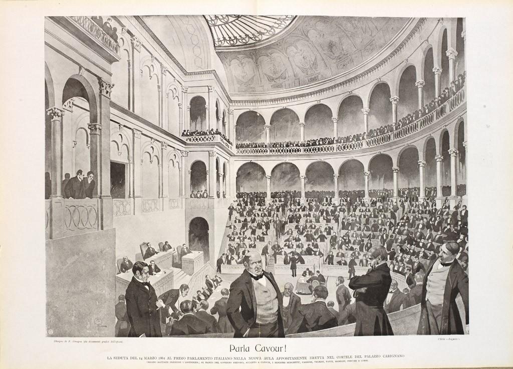 L unificazione italiana museotorino for Il parlamento italiano