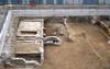 Veduta generale dell'area durante lo scavo, © Soprintendenza per i Beni Archeologici del Piemonte e del Museo Antichità Egizie.