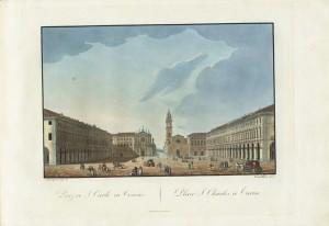 Piazza San Carlo, cromolitografia. © Archivio Storico della Città di Torino