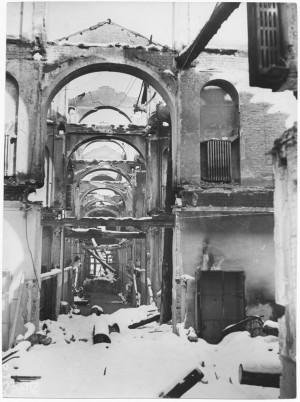 Ospedale Oftalmico. Effetti prodotti dai bombardamenti dell'incursione aerea del 9 dicembre 1942. UPA 3081D_9D03-35. © Archivio Storico della Città di Torino
