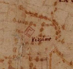 Cascina Piscina, già Marchesa. La Marchia, Carta della Montagna, 1694-1703. © Archivio di Stato di Torino.
