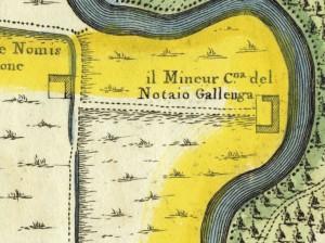 Cascina Mineur. Amedeo Grossi, Carta Corografica dimostrativa del territorio della Città di Torino, 1791. © Archivio Storico della Città di Torino