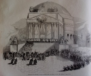 Festa del 27 febbraio 1848 alla chiesa della Gran Madre di Dio, da