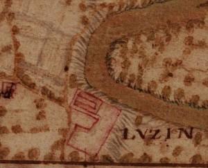 Castello di Lucento. La Marchia, Carta della Montagna, 1694 - 1703. ©Archivio di Stato di Torino.