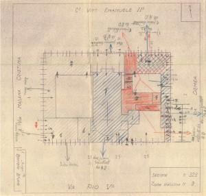 Bombardamenti aerei. Censimento edifici danneggiati o distrutti. ASCT Fondo danni di guerra inv. 323 cart. 6 fasc. 6. © Archivio Storico della Città di Torino