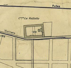 Cascina Le Vallette. Pianta di Torino, 1935. © Archivio Storico della Città di Torino