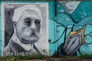 MKE, Giovanni Verga, dettaglio del murale, 2010. Fotografia di Roberto Cortese, 2017 © Archivio Storico della Città di Torino