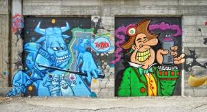 Artisti vari, Progetto MurArte 2018, La nostra città, via Nino Oxilia. Fotografia di Roberto Cortese, 2018 © Archivio Storico della Città di Torino