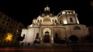 Veduta serale del Santuario della Consolata. Fotografia di Paolo Mussat Sartor e Paolo Pellion di Persano, 2010. © MuseoTorino