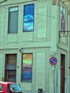 Domenico David,Senza titolo, 2003, opera murale in finestre chiuse in via Cibrario 7/via S.Rocchetto per il MAU Museo Arte Urbana. Fotografia di Alessandro Vivanti, 2011
