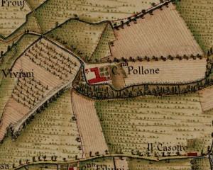 Cascina Perrone. Carta Topografica della Caccia, 1760-1766 circa, ©Archivio di Stato di Torino