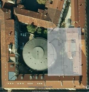 """Ricostruzione grafica di Marzia Gallo del rifugio antibombe """"Mario Gioda"""" © Archivio Storico della città di Torino"""