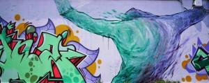 Artisti vari, La regina delle Alpi, 2018, via Carena angolo via dell'Industria. Fotografia di Roberto Cortese, 2018 © Archivio Storico della Città di Torino
