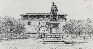 Il Mastio prima degli interventi di restauro di Riccardo Brayda, ante 1893 (Politecnico di Torino, Fondo Brayda).