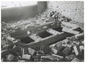 Fiat Mirafiori. Effetti prodotti dai bombardamenti del 4-5 dicembre 1940. UPA 0959D_9A02-24. © Archivio Storico della Città di Torino