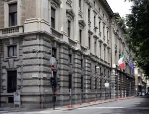 Porzione del fronte di Palazzo Pralormo su corso Vinzaglio con l'accesso principale. Fotografia di Caterina Franchini.