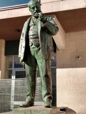 Cesare Reduzzi, Monumento a Quintino Sella (dettaglio della statua), 1893. Fotografia di Maria Paola Soffiantino 2020