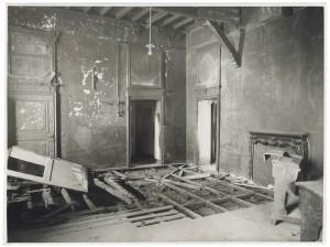 Villa della Regina. Effetti prodotti dal bombardamento dell'incursione aerea del 20-21 novembre 1942. UPA 2202_9B06-33. © Archivio Storico della Città di Torino