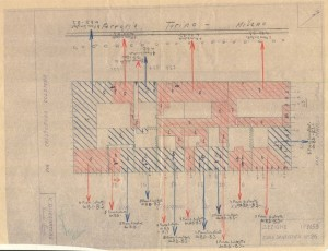 Bombardamenti aerei. Censimento edifici danneggiati o distrutti. ASCT Fondo danni di guerra inv. 1153 cart. 24 fasc. 7. © Archivio Storico della Città di Torino.