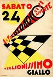 Nicolay Diulgheroff, Da Lutrario ci si diverte, 1928, matita e tempera su cartoncino, 34,7x50cm. ©exibart