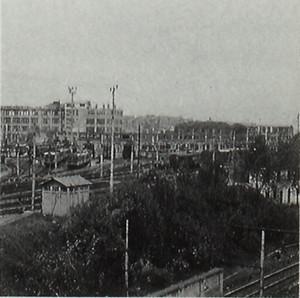Deposito locomotive alla stazione di smistamento di Torino