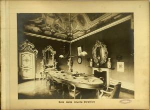 Regio Museo Industriale, Sala della Giunta Direttiva. Da R. Museo Industriale Italiano. Torino, C. Favale e Compagnia, Torino s.d. (1871). Torino, Biblioteche Civiche