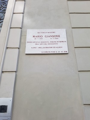 Targa a Mario Giansone