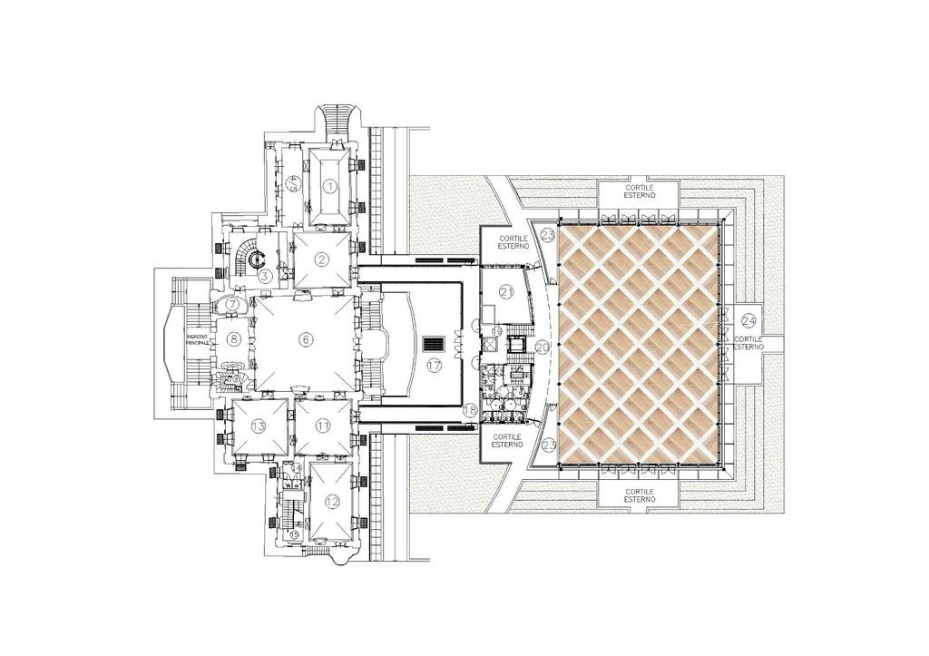 Pianta villa moderna for Piante di ville moderne