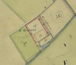 Cascina Giajone. Catasto Gatti, 1820-1830. © Archivio Storico della Città di Torino