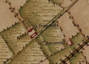 Cascina Porporata. Carta Topografica della Caccia, 1760-1766 circa, © Archivio di Stato di Torino