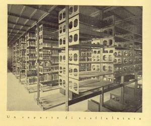 Biblioteca civica Centrale, magazzino librario, 1929. Biblioteca civica Centrale © Biblioteche civiche torinesi
