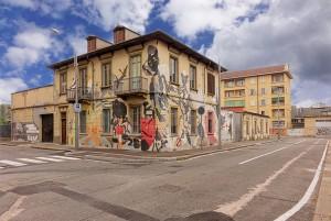 Artisti vari, murale senza titolo, 2014, Officine Corsare, via Pallavicino