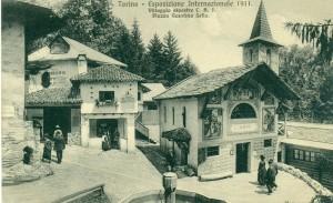 Cartolina, Villaggio Alpino, Esposizione 1911
