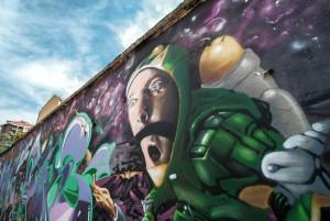 BOC crew, senza titolo, dettaglio del murale, 2015, giardinetti di corso Francia 303. Fotografia di Roberto Cortese, 2017 © Archivio Storico della Città di Torino