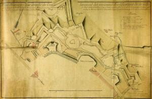 Demolizioni napoleoniche delle fortificazioni nord-occidentali della piazzaforte in Archivio di Stato di Torino, Genio Civile.