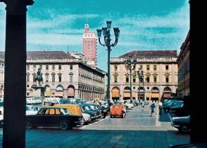 Piazza San Carlo, anni Sessanta. Collezione Luca Davico