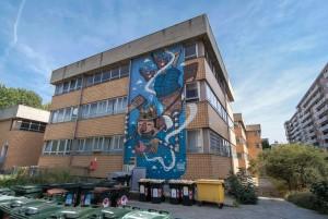 Mr Thoms, murale senza titolo, 2012, scuola Rousseau