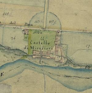 Cascina Mirafiori. Catasto Gatti, 1820-1830. © Archivio Storico della Città di Torino