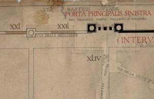 Tratti delle mura della città romana a est di piazza della Repubblica