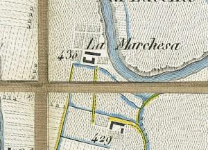 Cascina Marchesa. Topografia della Città e territorio di Torino, 1840. © Archivio Storico della Città di Torino