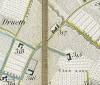 Cascina del Rivore. Antonio Rabbini , Topografia della Città e Territorio di Torino, 1840. © Archivio Storico della Città di Torino