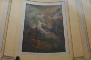 Luigi Vacca (1778-1884) (?), Orazione nell'orto, post 1817, affresco nel coro della chiesa di Santa Croce. Fotografia di Francesca Romana Gaja, 2011-2012