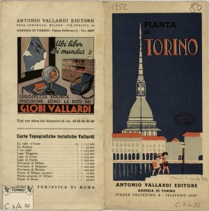 Pianta di Torino, 1950 circa, ed. Vallardi. Biblioteca civica centrale, Cartografico  3/4.32.02 © Biblioteche civiche torinesi